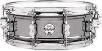 "Pacific Drums PDSN5514BNCR 5.5""x14"" Concept Series Black Nickel Over Steel Snare Drum"
