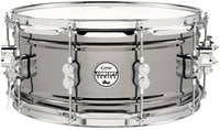 "Pacific Drums Concept Series Black Nickel over Steel 6.5""x14"" Snare Drum with Chrome Hardware PDSN6514BNCR"