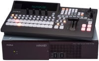 FOR-A Corporation HVS-100 Type A Hanabi XT Switcher 1M/E Switcher with HVS-100OU 12-Button Operation Unit HVS-100-TYPE-A