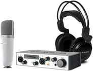 Complete Recording Package with M-Track, Microphone, Headphones, Waves Plugin Pack, Ableton Live Lite