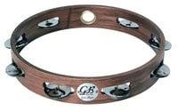 "Gon Bops PTAMW1  10"" Wood Tambourine with Single Row of Jingles and No Head"