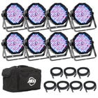8x Mega Par Profile Plus LED Package