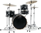 DW DDLM1604BL 4-Piece Design Series Mini-Pro Shell Pack in Black Satin Finish