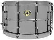 "Ludwig LW0814 8""x14"" Black Magic Brass Snare Drum"