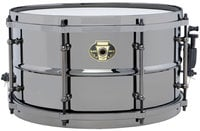 "Ludwig LW0713 7""x13"" Black Magic Brass Snare Drum"