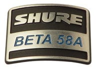 Shure 39E926  Nameplate for B58A