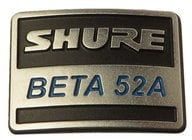 Shure 39H926  Nameplate for B52A