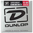 Dunlop DBSBS45105 Super Bright Steel Bass Strings 4-String Medium Gauge Set - 45-105