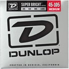 Dunlop DBSBN45105 Super Bright Nickel Wound Bass Strings 4-String Medium Gauge Set - 45-105