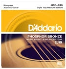 Phosphor Bronze Bluegrass Acoustic Guitar Strings, .012-.056