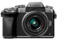 Panasonic DMC-G7KS 16MP LUMIX G7 Interchangeable Lens Camera Kit with 14-42mm Lens in Silver