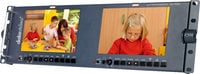 "Datavideo Corporation TLM-702HD Dual 7"" Screen LCD Monitor Rack Unit with HD-SDI Inputs"