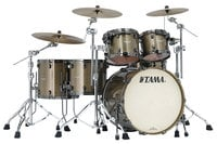 5 Piece Starclassic Bubinga Shell Pack in Galaxy Chameleon Sparkle Finish with Black Nickel Hardware