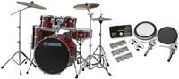Stage Custom Hybrid Electronic / Acoustic Kit in Cranberry Red