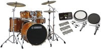 Yamaha SCH2HP587-HA Stage Custom Hybrid Electronic / Acoustic Kit in Honey Amber