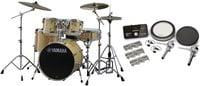 Yamaha SCH2HP587-NW Stage Custom Hybrid Electronic / Acoustic Kit in Natural Wood