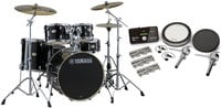 Yamaha SCH2HP587-RB Stage Custom Hybrid Electronic / Acoustic Kit in Raven Black