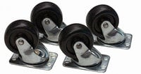 "Lowell C2S Set of Four 2"" Swivel Casters"