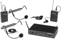 Wireless Microphone System with 2x Lavalier, 2x Headset Transmitters