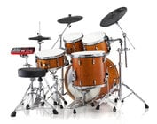 "E-Pro Tru Trac Acoustic to Electric Drum Conversion Kit with 12""/13""/14""/16"" Heads and Plastic Cymbals"