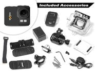 "eXpo HD 20MP Action Camera with 2"" LCD Screen and Wi-Fi Remote [RESTOCK ITEM]"