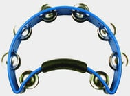 Blue Nickel Tambourine with Nickel Steel Jingles