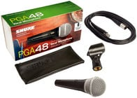 Dynamic Vocal Microphone Bundle with (6) Shure PGA48 Microphones and Accessories