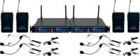 Four Channel UHF/DSP Hybrid Bodypack Wireless Microphone Package