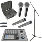 Mixer Bundle with QSC TouchMix 16, (2) SM57LC and (2) SM58LC Dynamic Vocal Microphones, iSeries Utility Case and Accessories