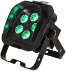 ADJ Flat Par QA5XS 5x 5W RGBA DMX LED Ultra Bright Low Profile Par with Snoot FLAT-PAR-QA5XS