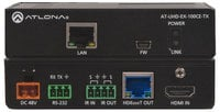 Atlona Technologies 4L/UHD HDBaseT Transmitter/Receiver 328ft (100m) HDBaseT Transmitter/Receiver with Ethernet, Control, and PoE