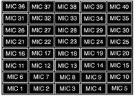 Lamacoid Marker Set, MIC 1 thru MIC 40