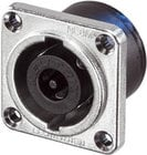 Neutrik NL8MPR 8-pin Male Speakon Chassis Connector, Nickel