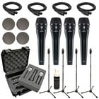 Dynamic Vocal Microphone Bundle with (4) KSM8 Microphones in Black and Accessories