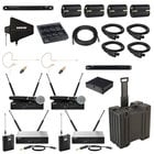 QLXD Series Wireless Package with QLXD24/SM58-G50 & QLXD14-G50 Systems and Accessories