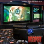 "Draper Shade and Screen 252195 Clarion Fixed Projection Screen 123"" 16:10 Matt White XT1000V Projection Screen"
