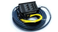 10 Channel Drop Snake with 4 Mic Lines and 6 Mic/DI Lines, Black
