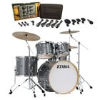 Superstar Classic Maple 5-Piece Shell Pack Galaxy Sparkle with Free Shure Drum Mic Pack