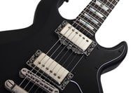 Left-Handed Electric Guitar with Black Burst Finish