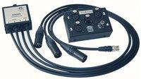 ETS ETS-SDS904 InstaMusician Balun Audio/Video Balun with (3) XLR-F Sends Plus (1) BNC to RJ45 Jack