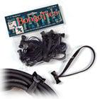 """Bongo Ties D5-01 Style-D """"Obsidian"""" Bongo Ties 10-Pack"""