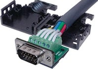 15-Pin Female VGA Connector to Terminal Block