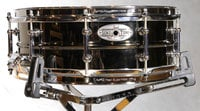 "14""x5"" SensiTone Series Snare Drum, Beaded Black/Brass"