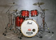 4-Piece Shell Pack C346 in Vermillion Sparkle Finish with Gator Elite Air Cases
