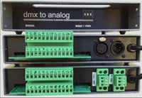 Doug Fleenor Designs DMX12ANL-TB  12 Channel DMX to Analog Converter with Terminal Block DMX12ANL-TB