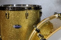 """3-Piece Shell Pack C347 in Bombay Gold Sparkle Finish with 24"""" Bass Drum"""