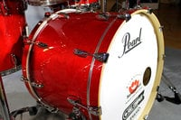 5-Piece Shell Pack C110 in Sequoia Red Finish with Gator Elite Air Cases