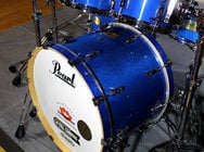 6-Piece Shell Pack C113 in Sheer Blue Finish with Gator Elite Air Cases