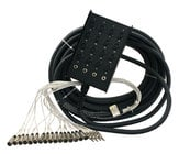 200 ft S Series Fan to Box Microphone Snake with 12 XLR Inputs and No Returns