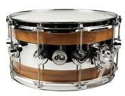 "DW Collector's Series® 14""x7"" Reverse Edge Walnut Snare Drum"